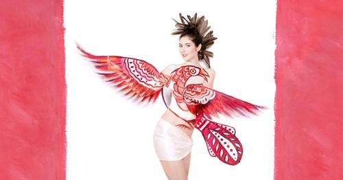 Laura Hollick Red Bird Canadian Flag
