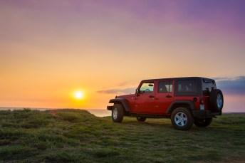Sunset Jeep