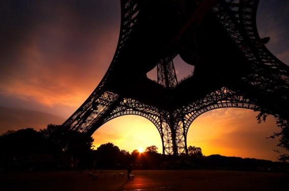 Eiffel Tower Sunrise, Paris, France