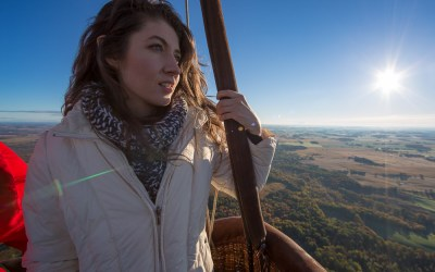 Reaching for nü heights in a hot air balloon
