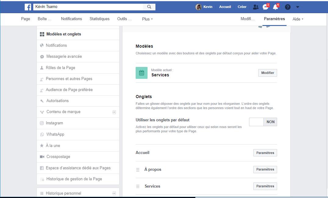 Choisir son Modèle de page Facebook