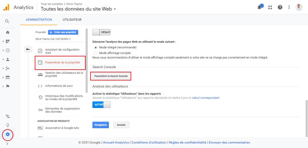 Reliez Google Search Console à Google Analytis
