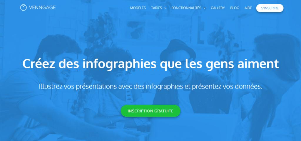 logiciels d'infographie Venngage