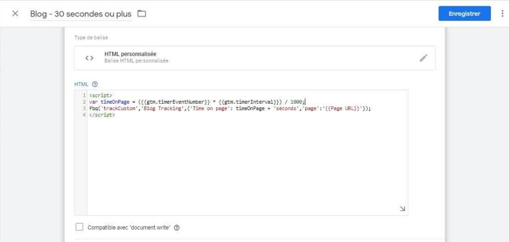 Créer la balise de type HTML personnalisé