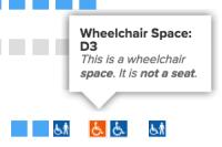 Wheelchair space