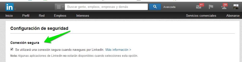 Linkedin seguridad