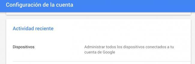 dispositivos con acceso a la cuenta de google
