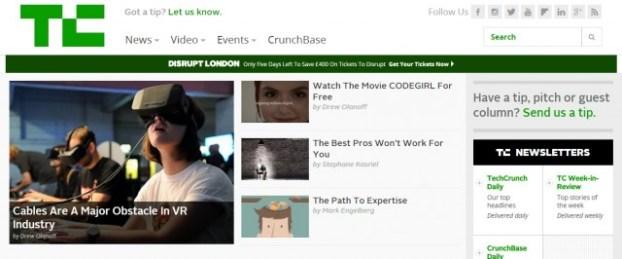 techcrunch paginas recomendadas startups