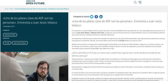Entrevista Juan Jesús Velasco - Andalucía Open Future