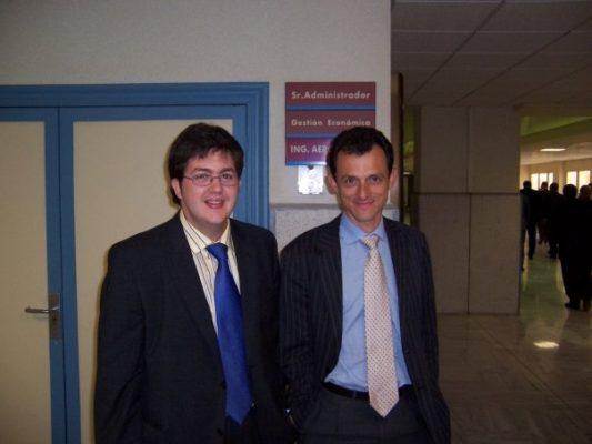 Juan Jesús Velasco y Pedro Duque