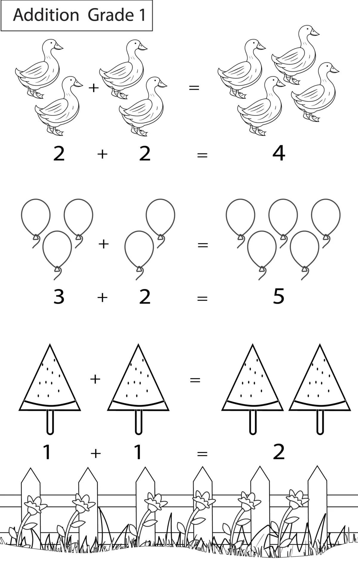 Maths Worksheets Grade 1 Chapter Addition