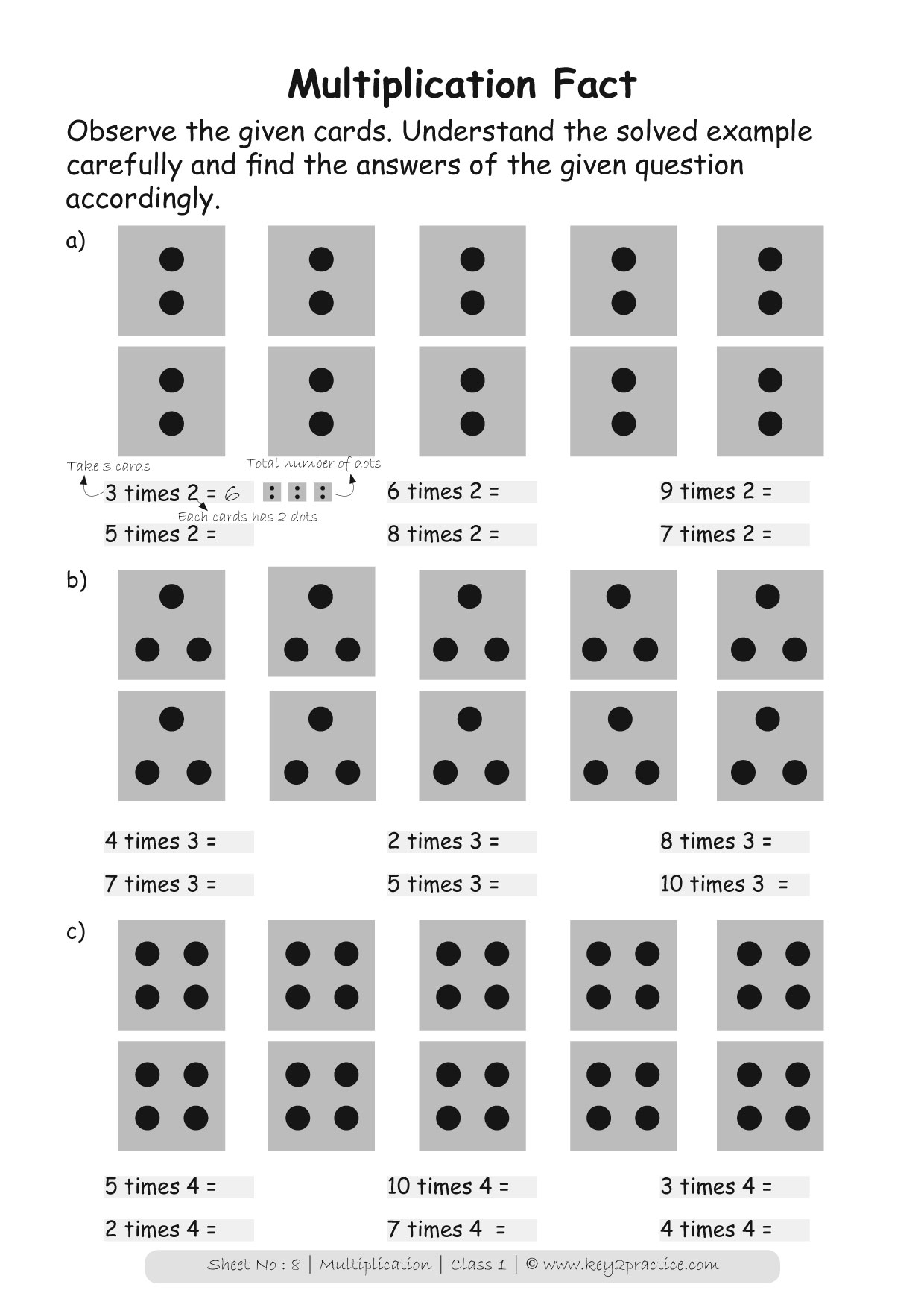 Maths Worksheets Grade 1 Multiplication