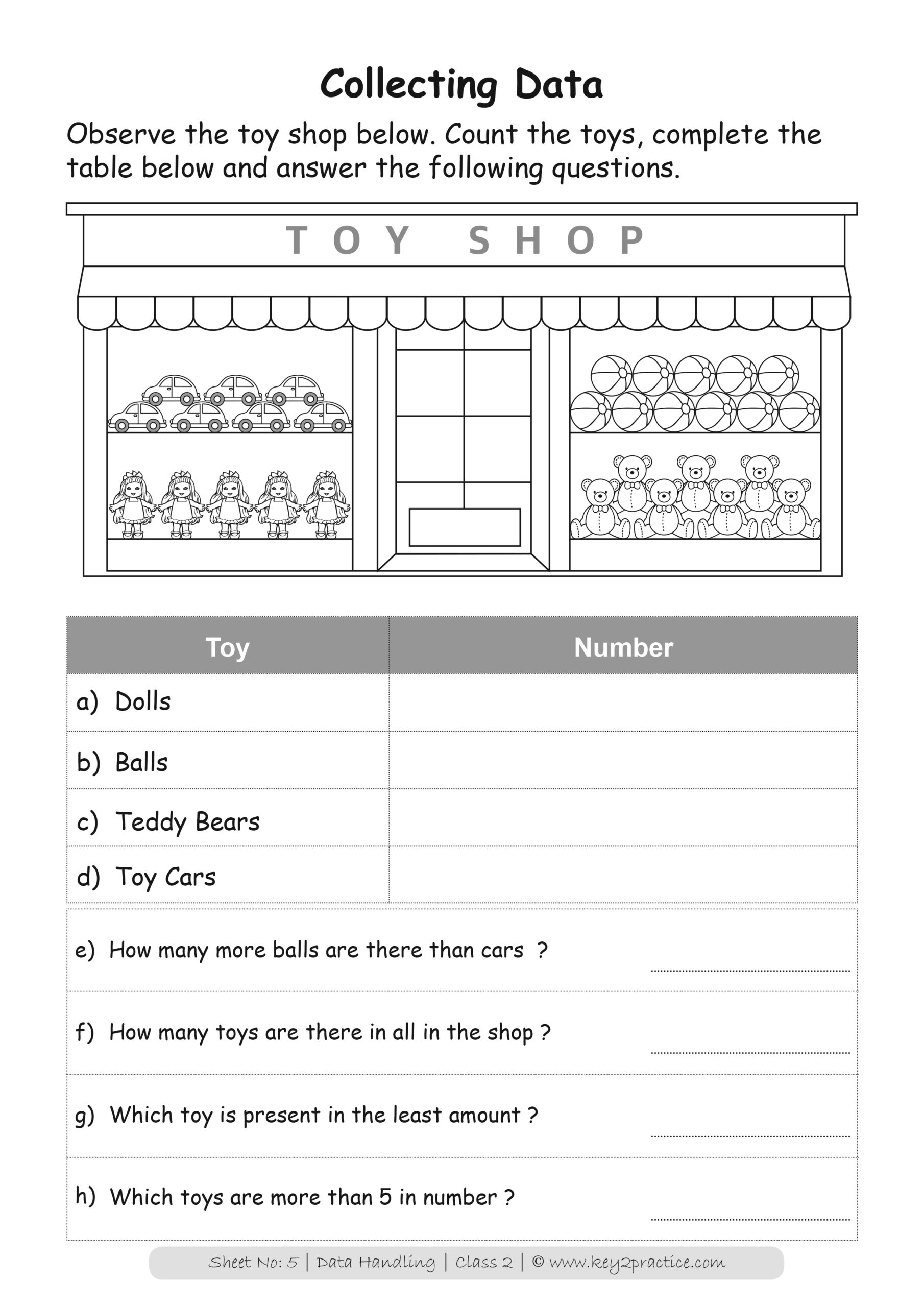 Maths Worksheets Grade 2 I Data Handling