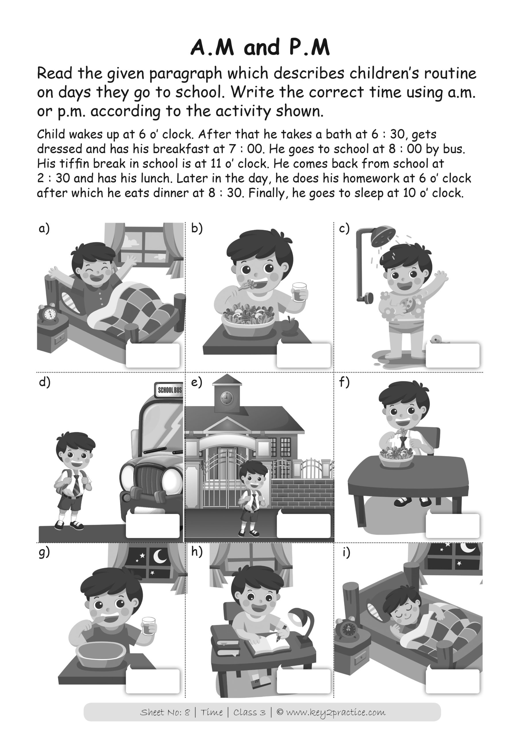 Maths I Time Worksheets Grade 3