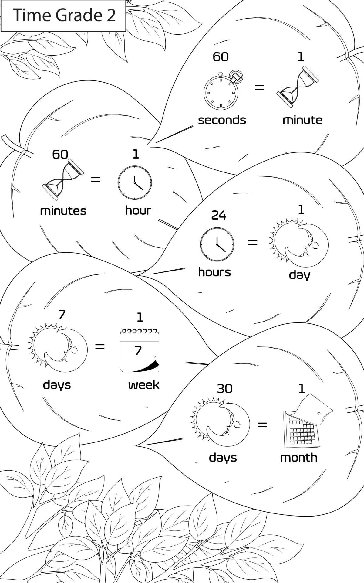 Maths Worksheets Grade 2 Workbook Concept Time