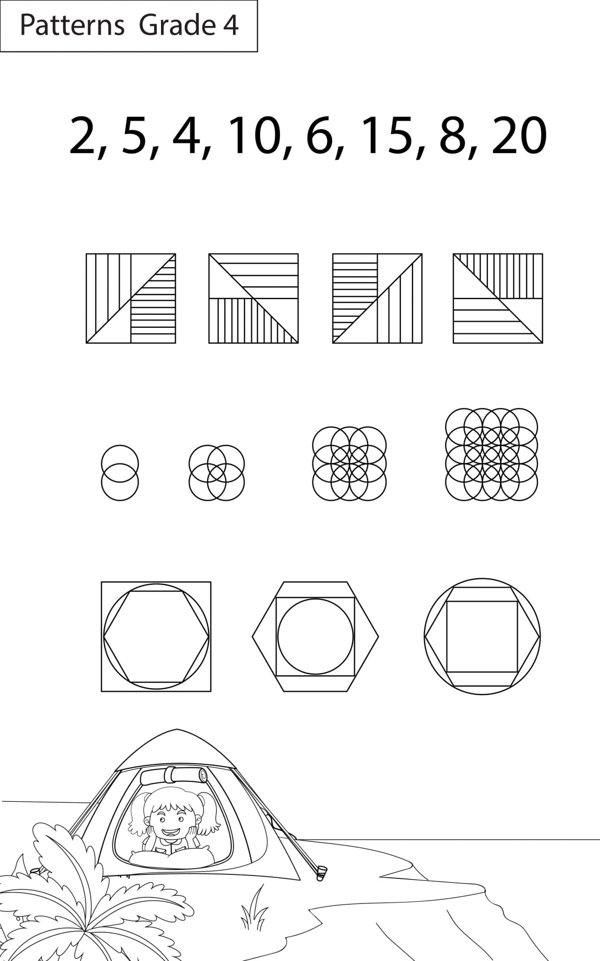 Maths Worksheets Grade 4 Patterns
