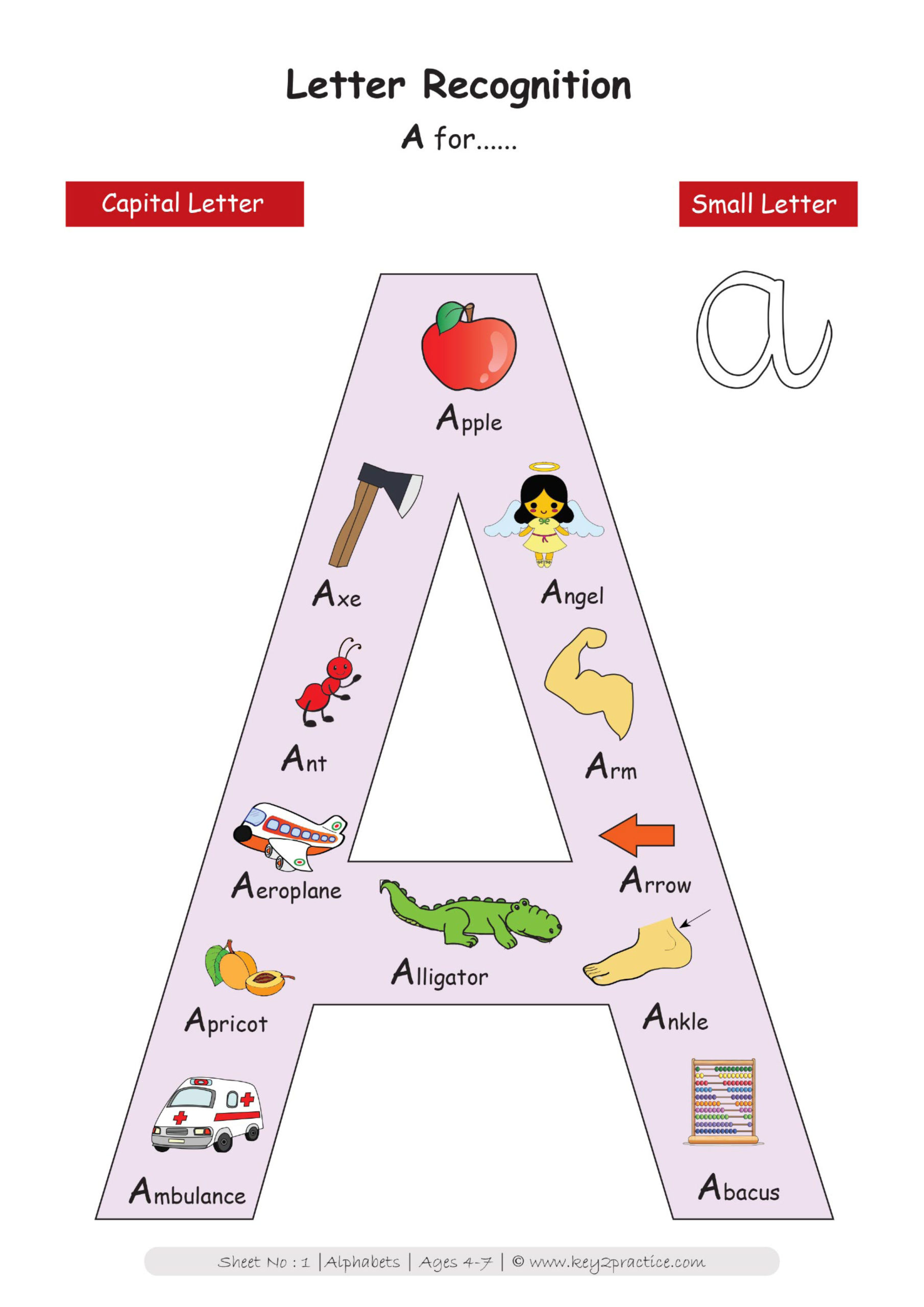 English Worksheets On Alphabet For Grade 1