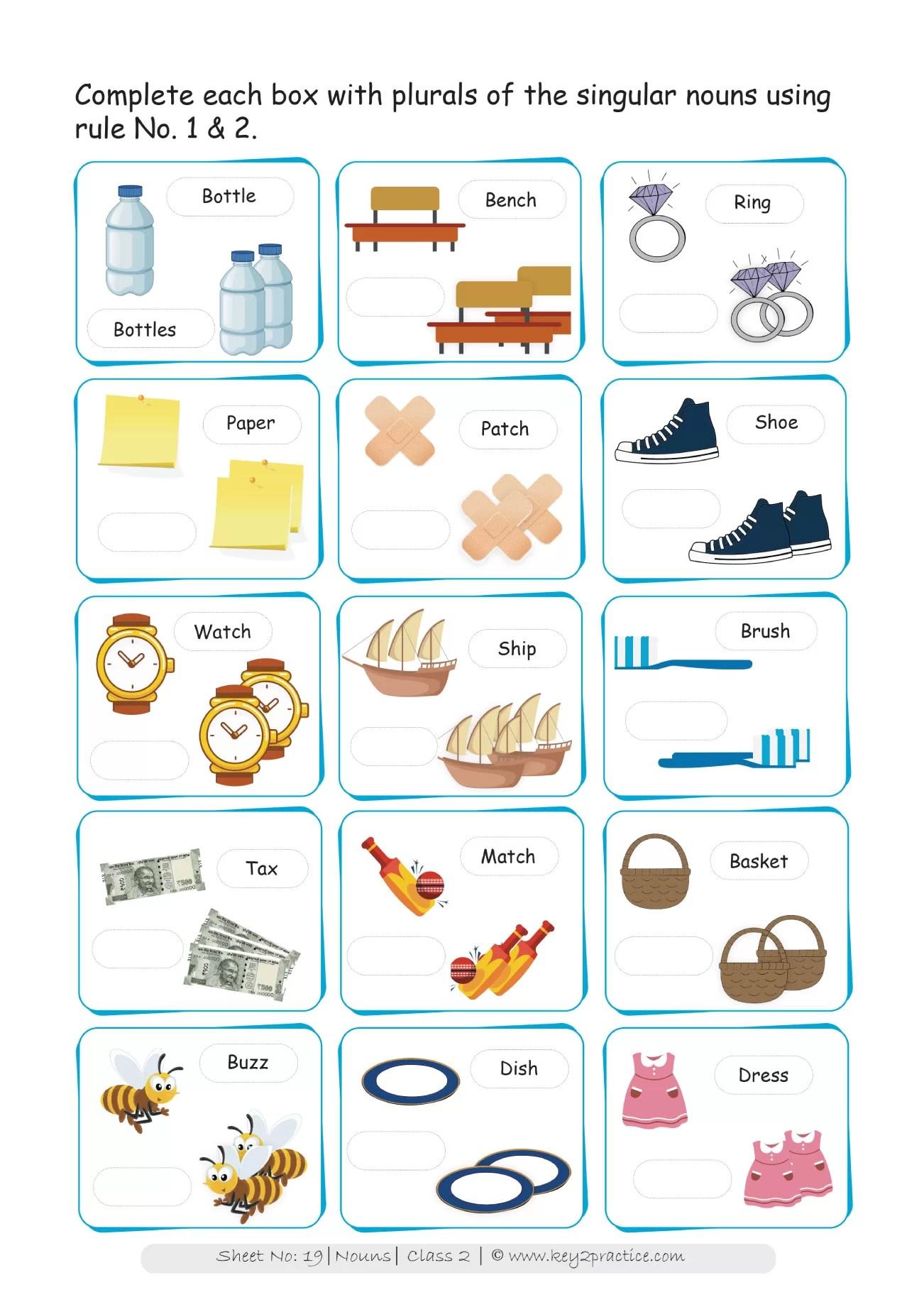 Grade 2 Nouns Worksheets I English