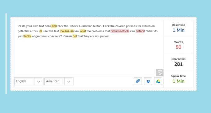 Smallseotools Grammar Checker