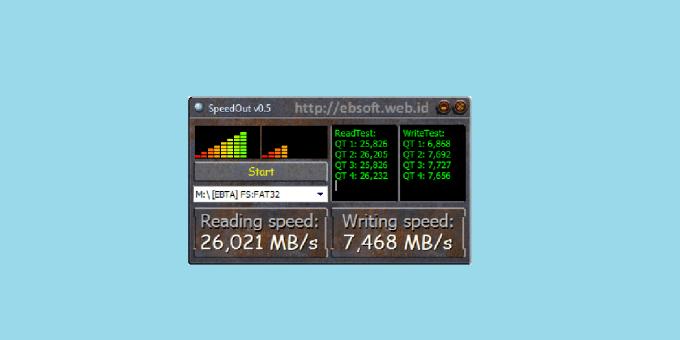 SpeedOut USB Speed Test Software