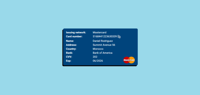 MasterCard Credit Card Number Generator
