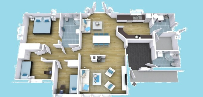3D View of Floor Plan Designs