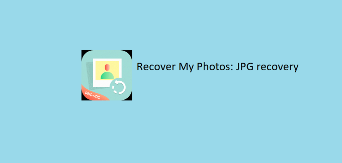 Recover My Photos JPG recovery