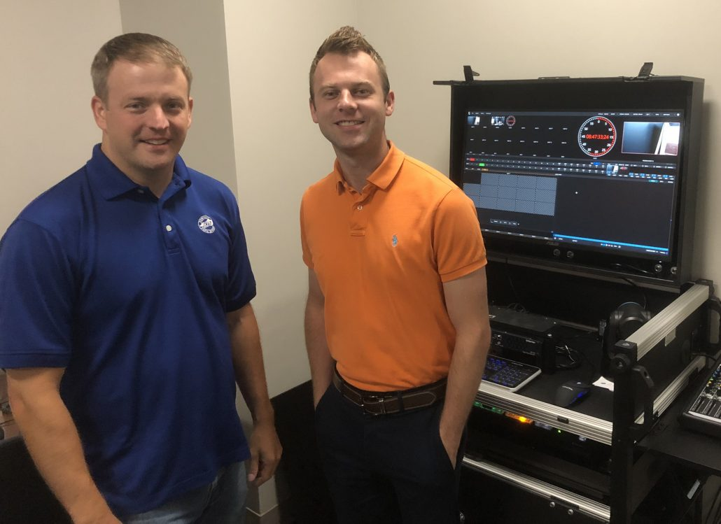 Director of KFB Studios, Matt Hilton with Assistant Director of KFB Studios, Austin Anderson