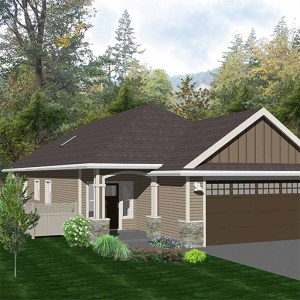 "The ""Hudson"" floor plan, available at McCormick Meadows, is a rancher home designed by Keycorp."