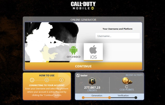 Call of Duty Mobile COD Points Generator