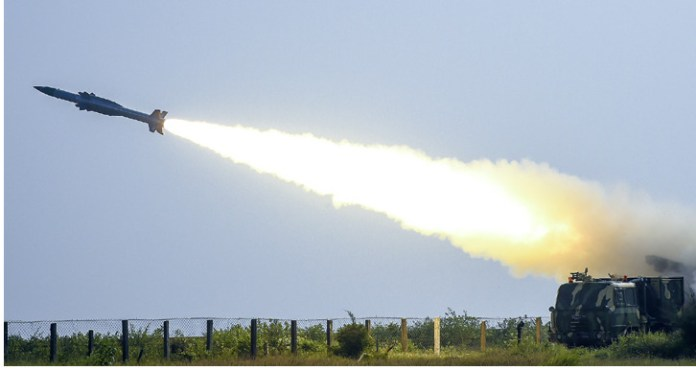 successful launch of the Akash missile off the coast of Orissa