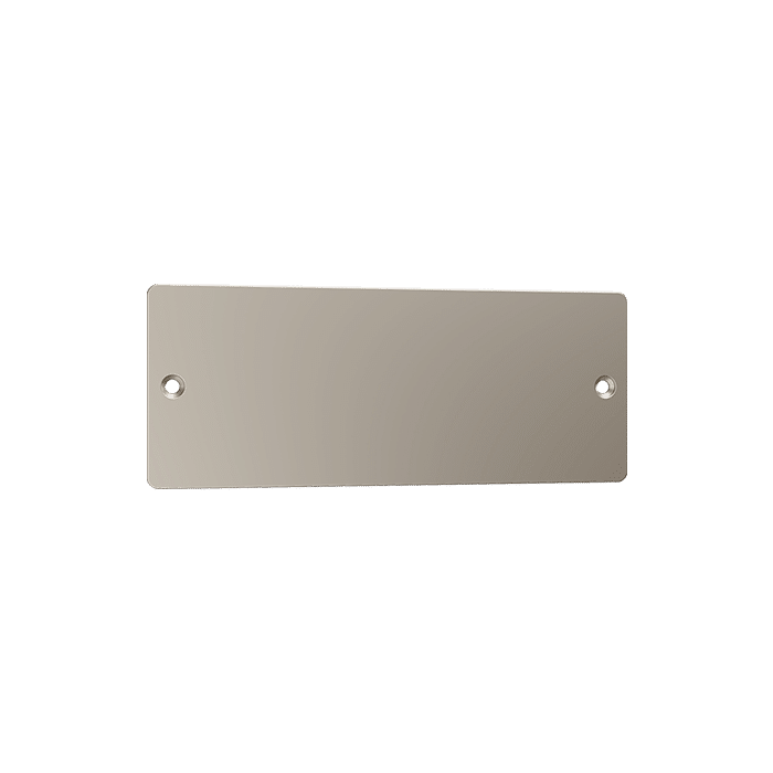 Satin Nickel Suva Name Plate