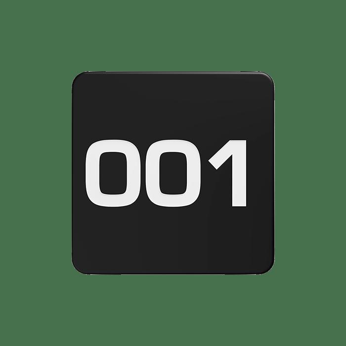 NERO NUMBER PLATE MATTE BLACK CONTOUR 1