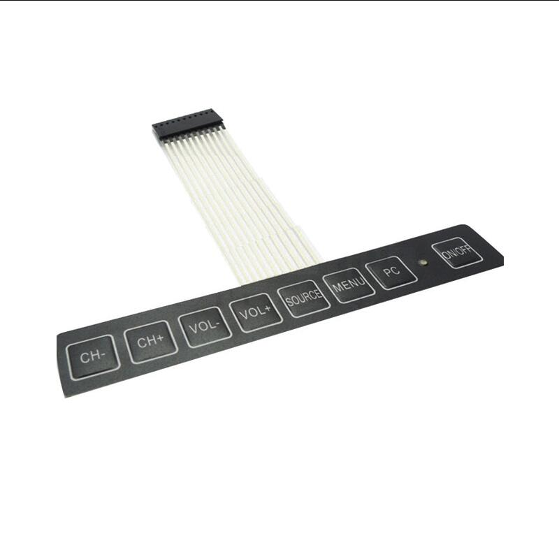 LED display LED matrix 1 * 8 key membrane switch keyboard with light control panel