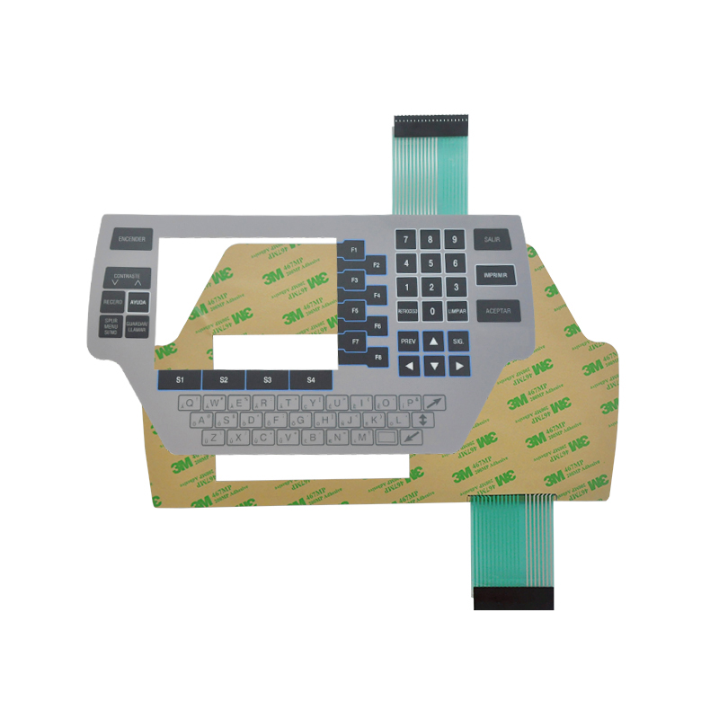 custom capacitive touch membrane keypad membrane switch