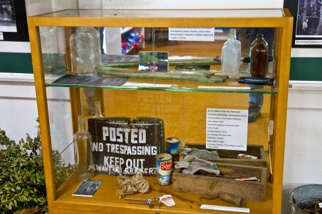 Key Peninsula Historical Society & Museum Cackleberries Humbleberries & Hooch Exhibit, Brush-picking artifacts