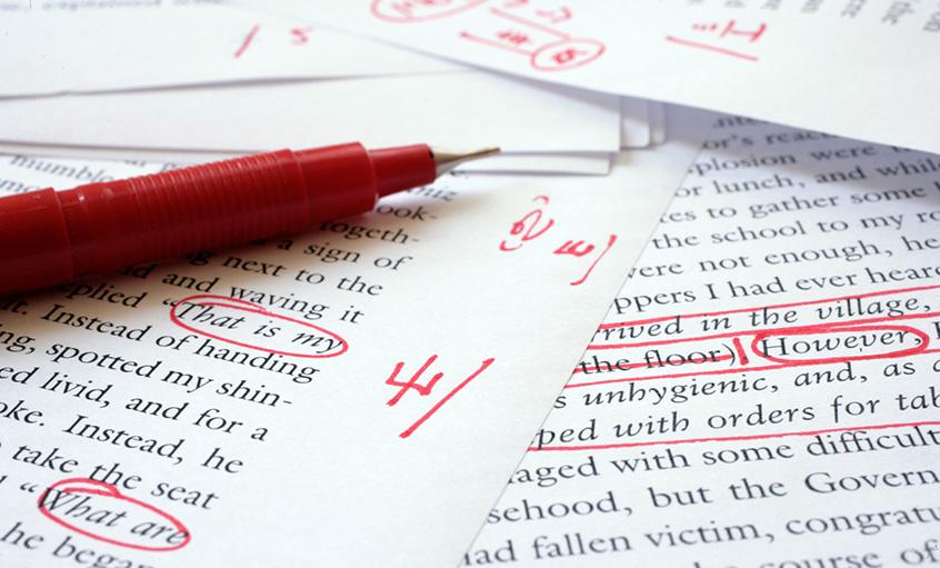 Editing essays