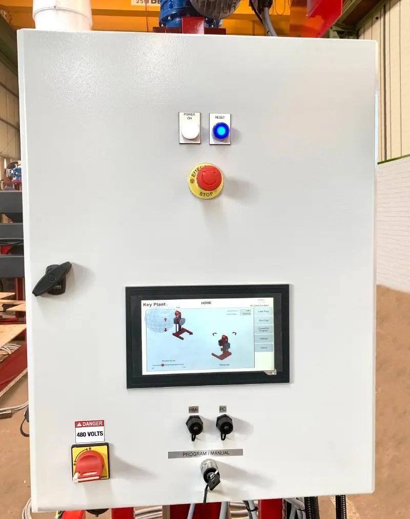 Control panel on door