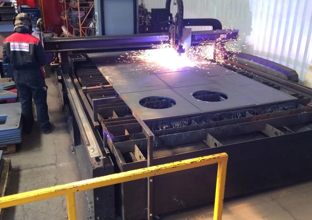 Key Plant plasma cutting process