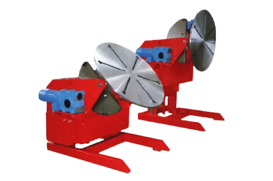 welding positioners integrated with column and boom
