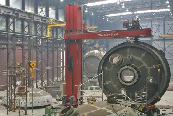 Key Plant designed, manufactured and installed Europes largest column and boom welding manipulator
