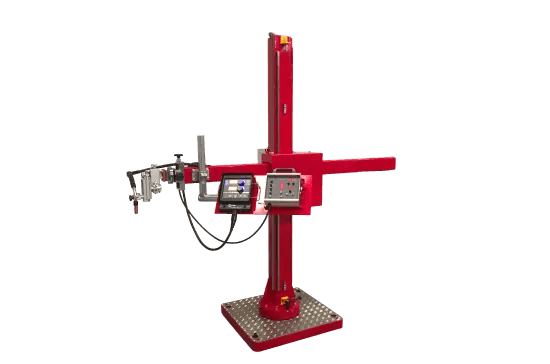 mobile pipe column and boom welding manipulator
