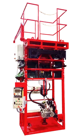Single sided automatic girth welder for storage tank fabrication