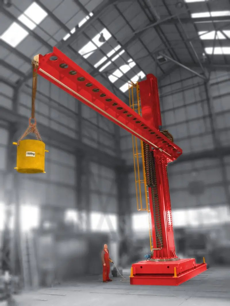 key plant column and boom load testing