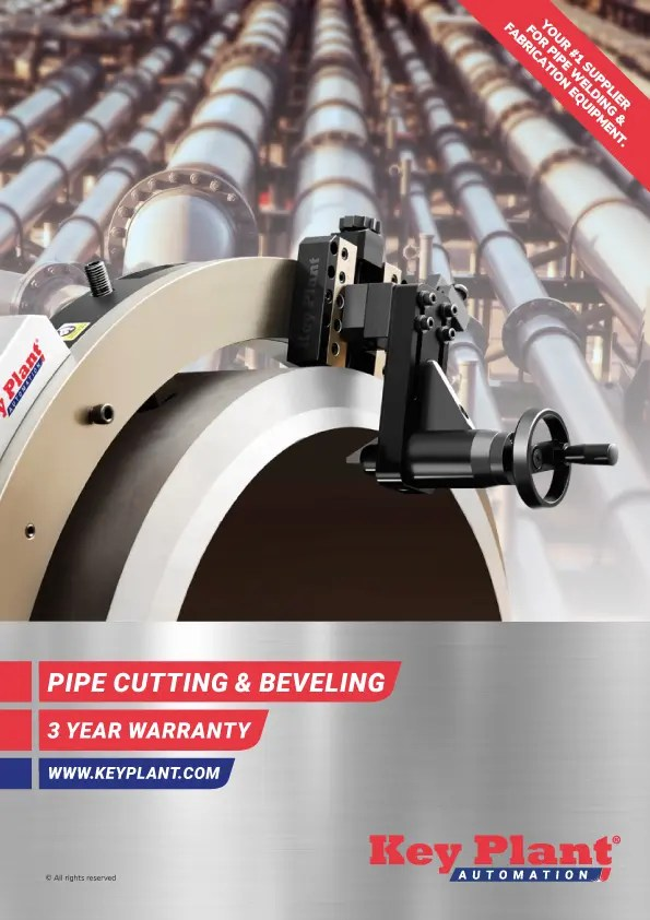 End prep equipment for pipe fabrication and welding work