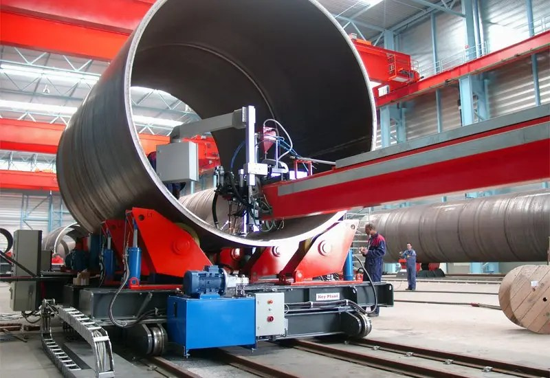 Fit up and elevating rotators used for wind tower manufacturer