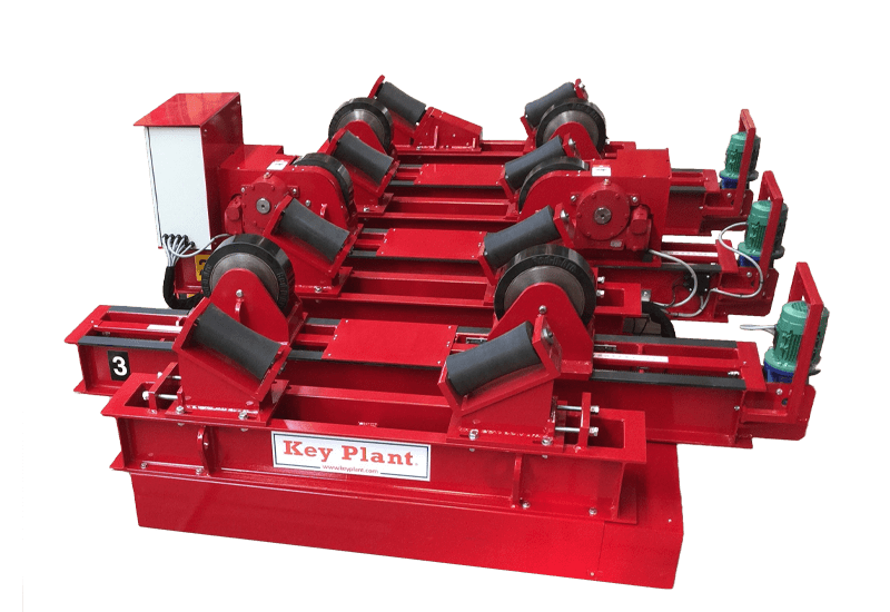 Transfer system for fit up and growing line