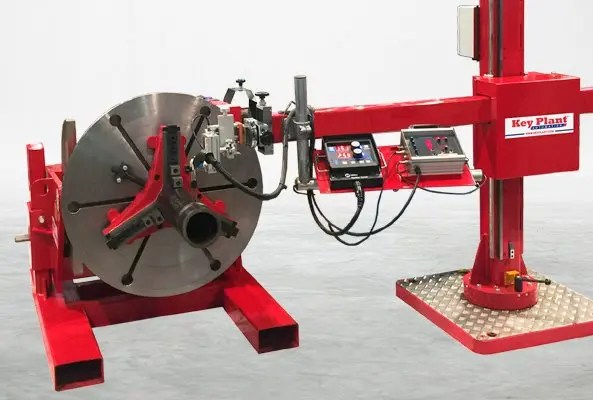 Welding positioner integrate with column and boom welding manipulator to optimise productivity