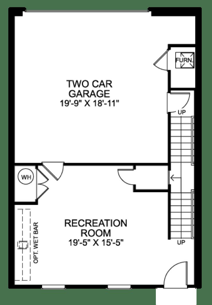 Bedroom Unit With Room Over Garage Floor Plan