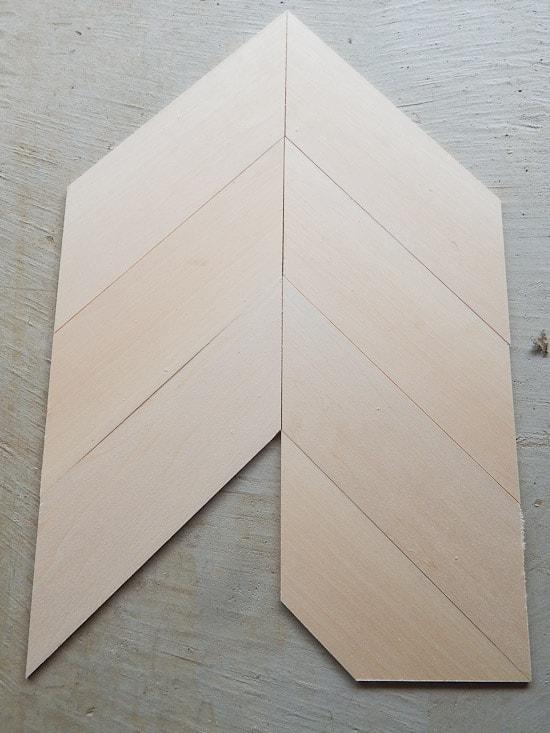 herringbone pattern countertop how to cut corners